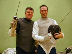 Tony with fencing student